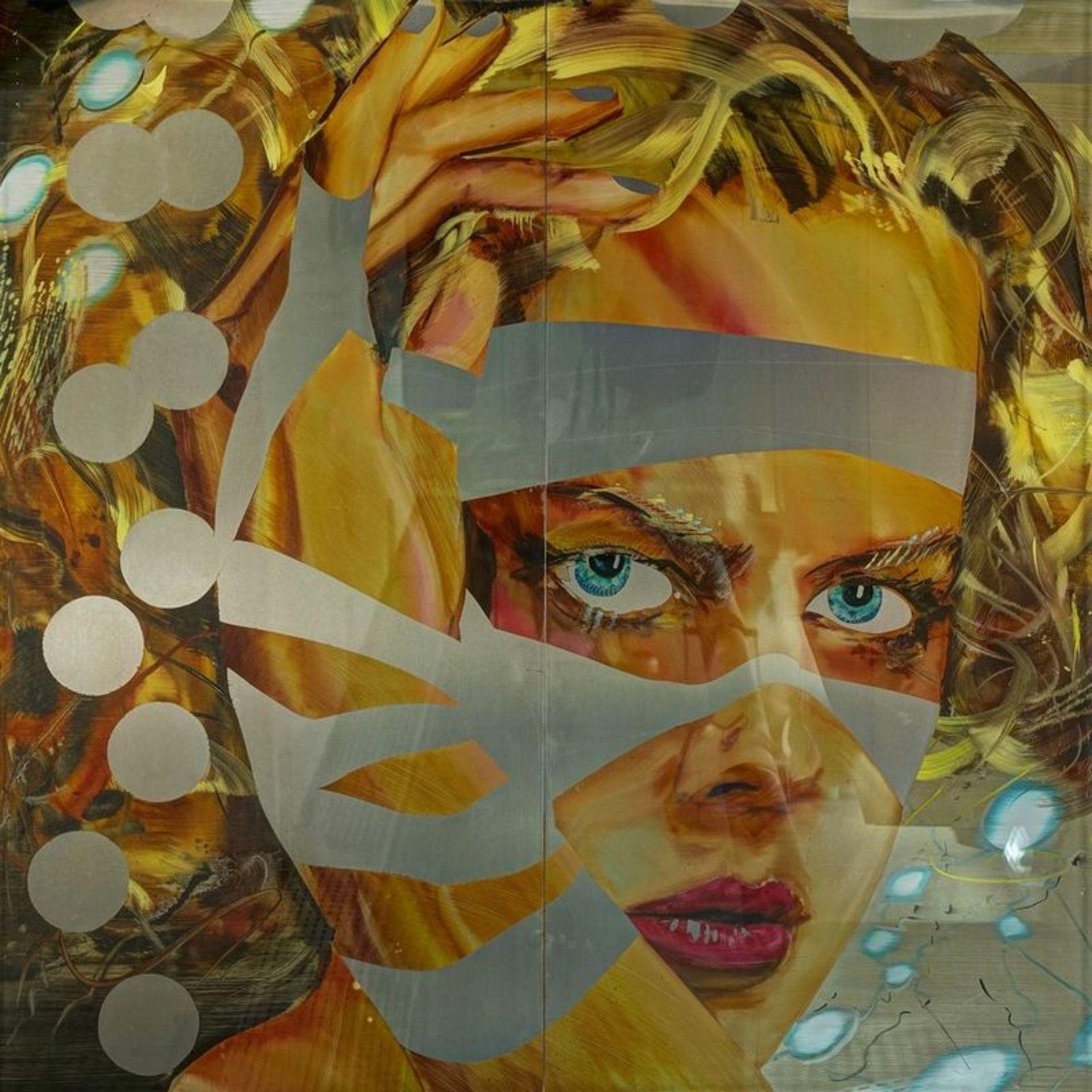 Los 558 - MATTHIAS KÖSTER (B 1961) Nicole Kidman - Mixed media on aluminium under [...]