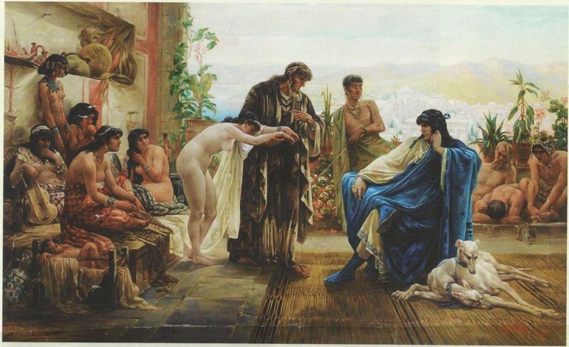 Los 522 - Emmanuel Stanek (1862-1920) The slave market, beginning of the XX century - Signed [...]