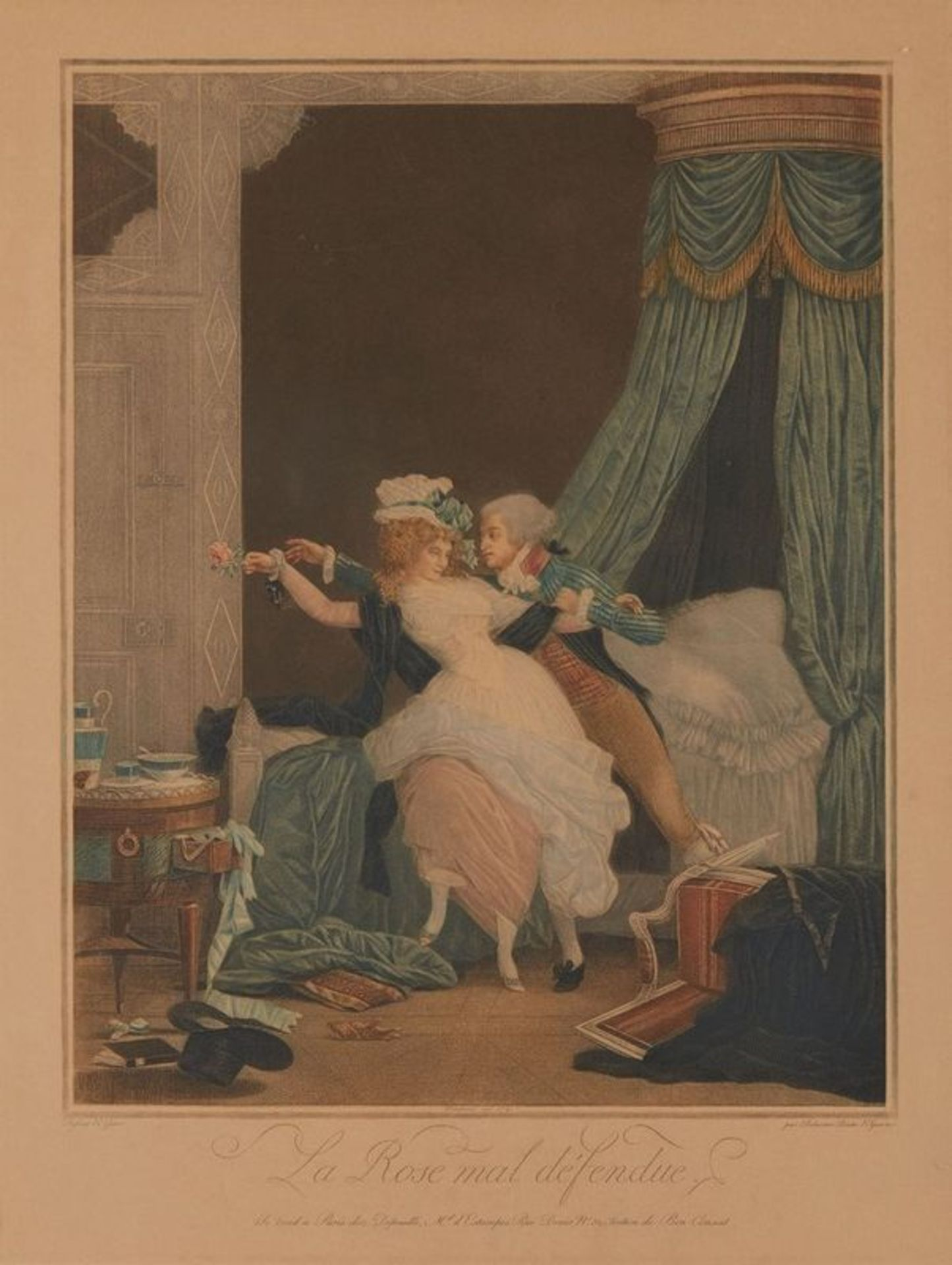 Los 582 - Philibert-Louis DEBUCOURT (1755- 1832) La Rose mal defendue, The Poorly Defended [...]