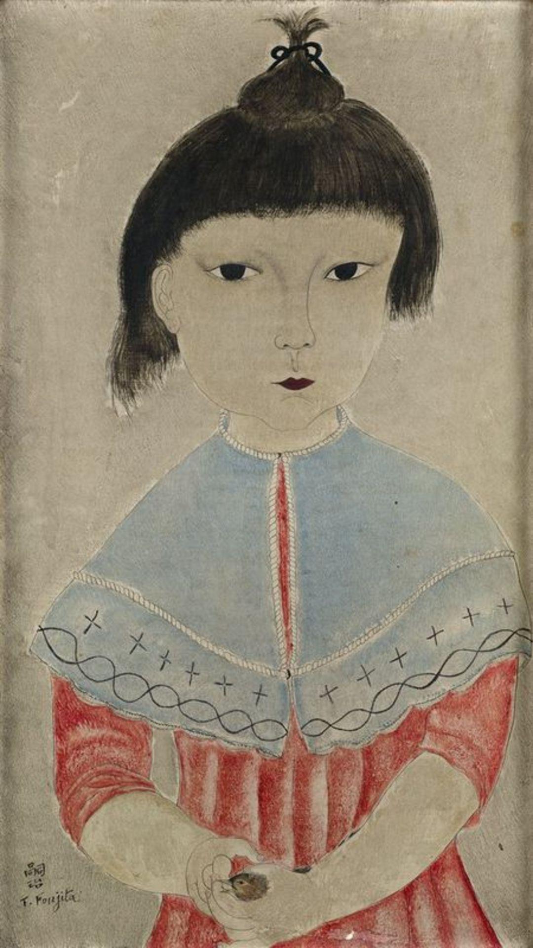 Tsuguharu Foujita (1886-1968) Fillette à l'oiseau (Little girl with bird) - [...]