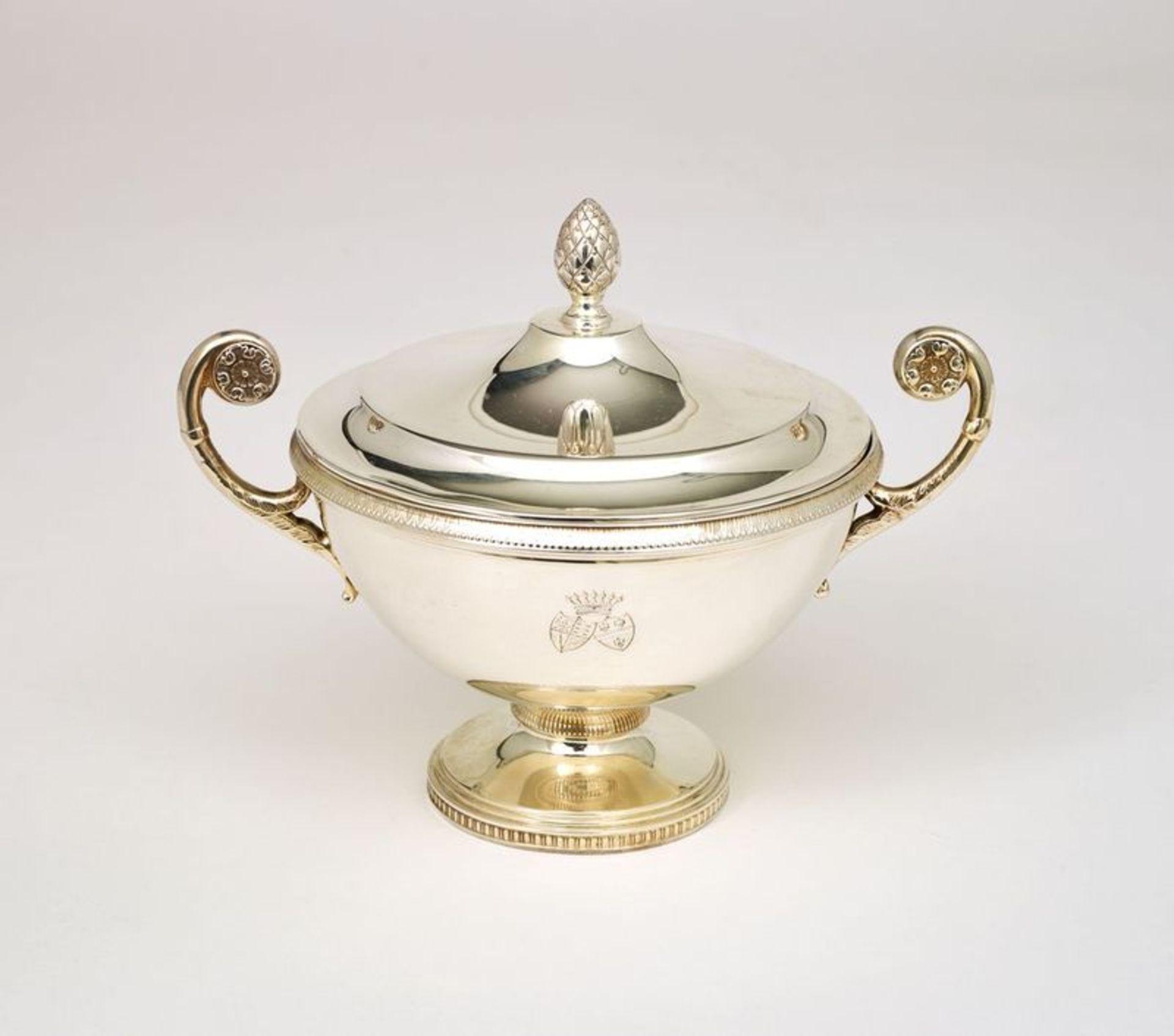SILVER TEA AND COFFEE SERVICE SET FROM VIENNA BY ALEXANDER STURM - Silver set, 7 [...] - Bild 5 aus 5