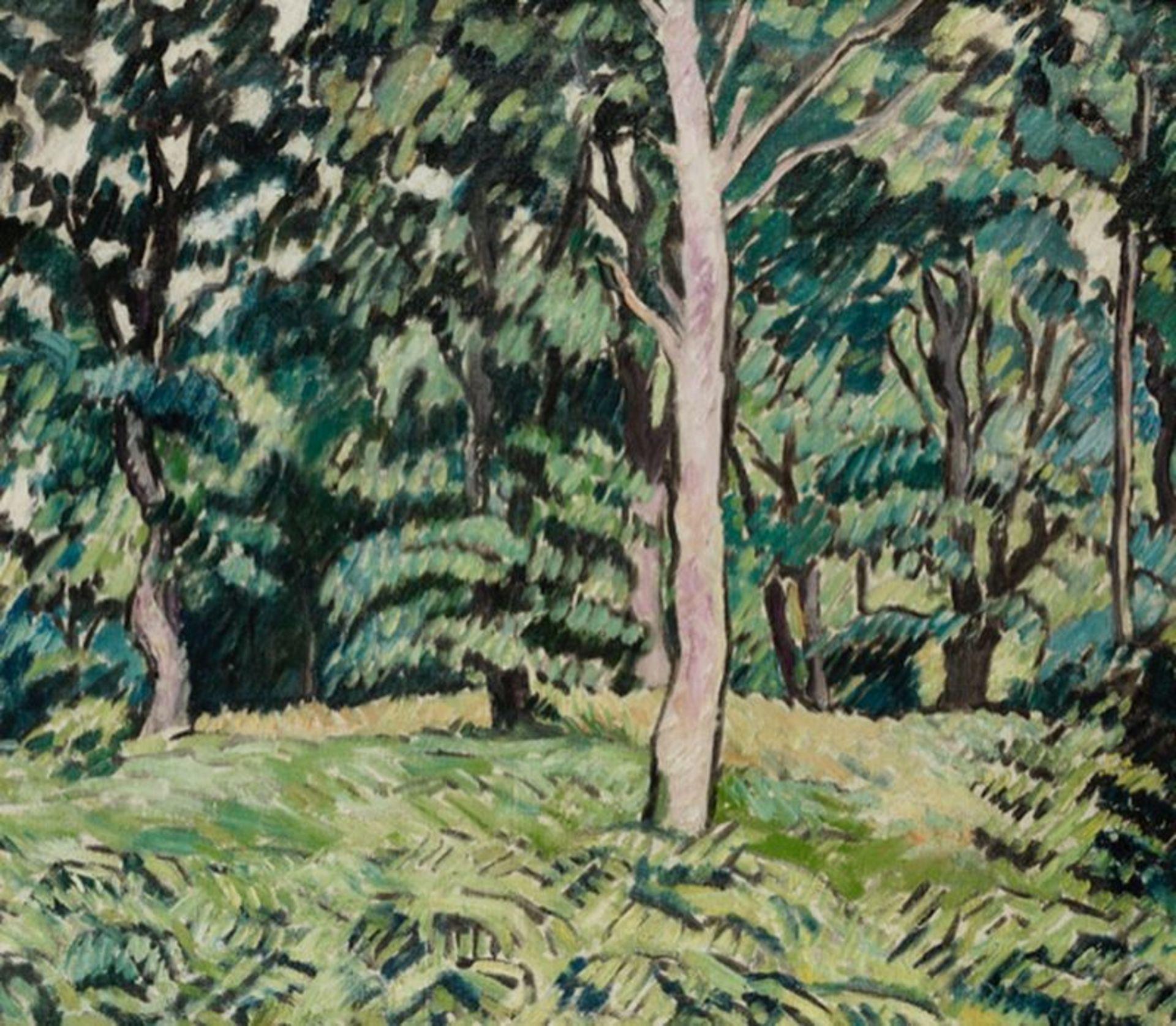 Los 527 - LOUIS VALTAT (1869-1952) Sous-bois au Printemps, ca. 1928 - Oil on canvas 46 x 55 [...]