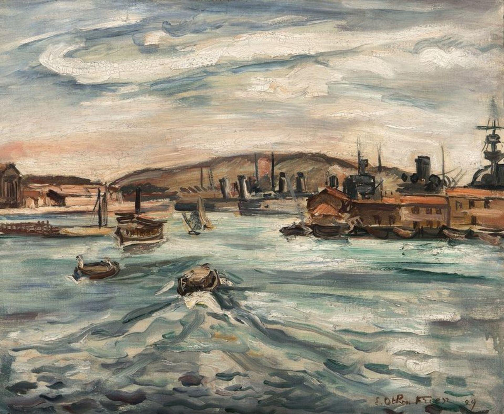 ACHILLE-ÉMILE OTHON FRIESZ (1879–1949) Port de Cherbourg, 1929 - Oil on canvas [...]