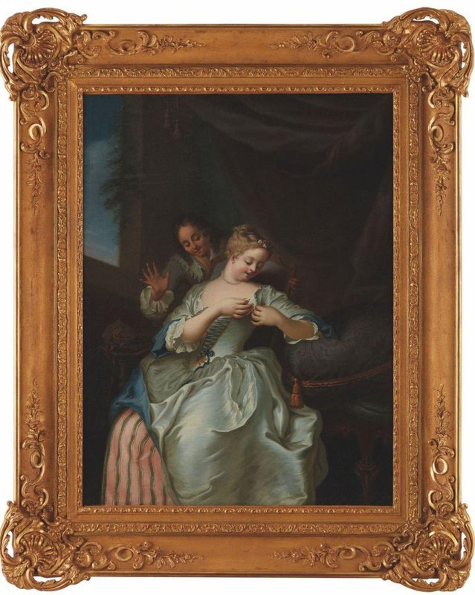 Gaspard de GRESLY (L'Isle-sur-le-Doubs, 1712 - Besançon, 1756) La puceuse [...] - Bild 2 aus 2