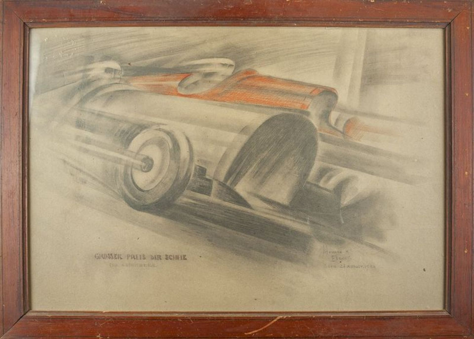 Los 561 - Howard K. Elcock (XX century) Grand Prix - Signed and dated (lower right), [...]