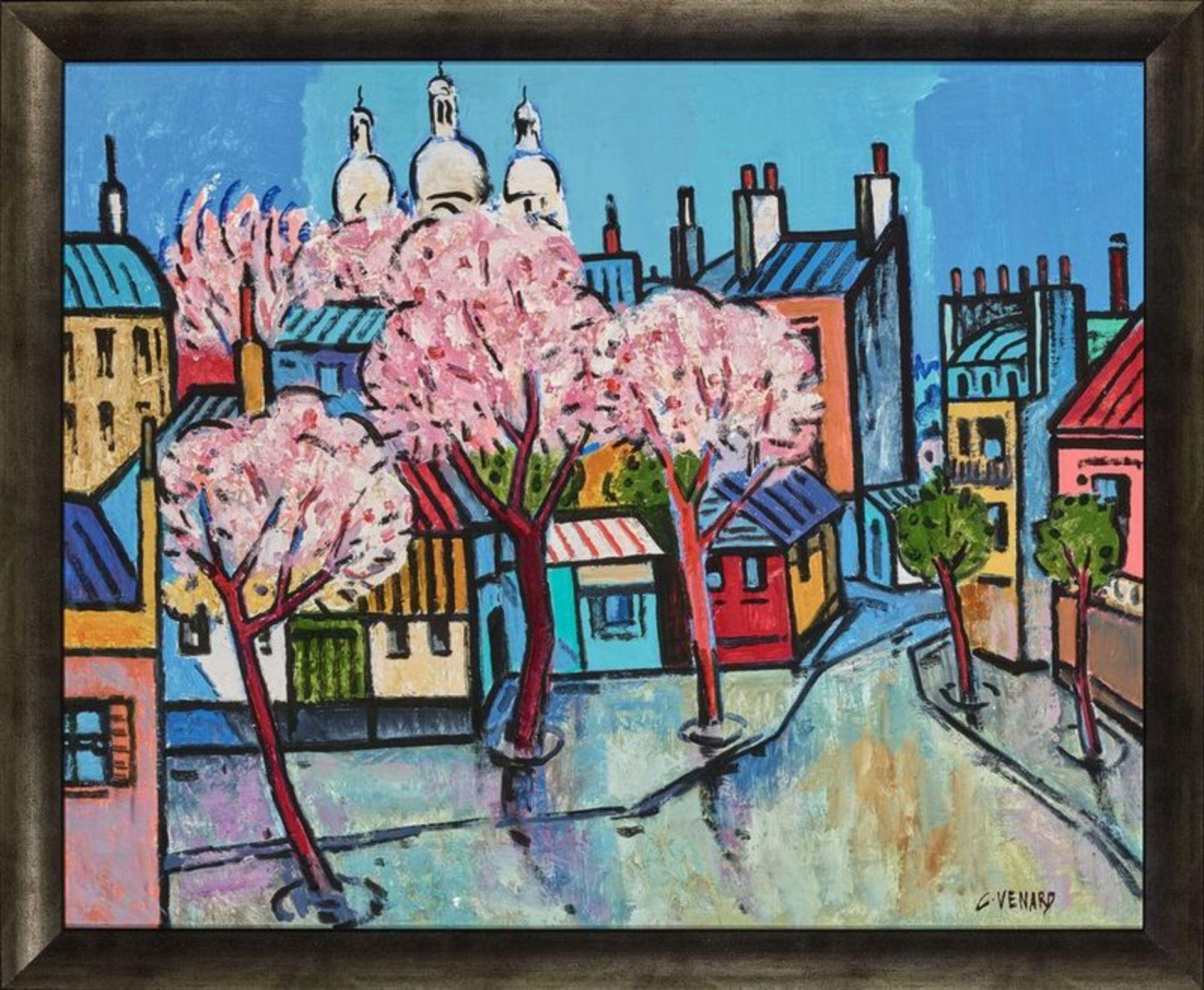 Los 534 - Claude Venard (1913-1999) Spring in Paris - Signed 'C Venard' (lower right) Oil on [...]