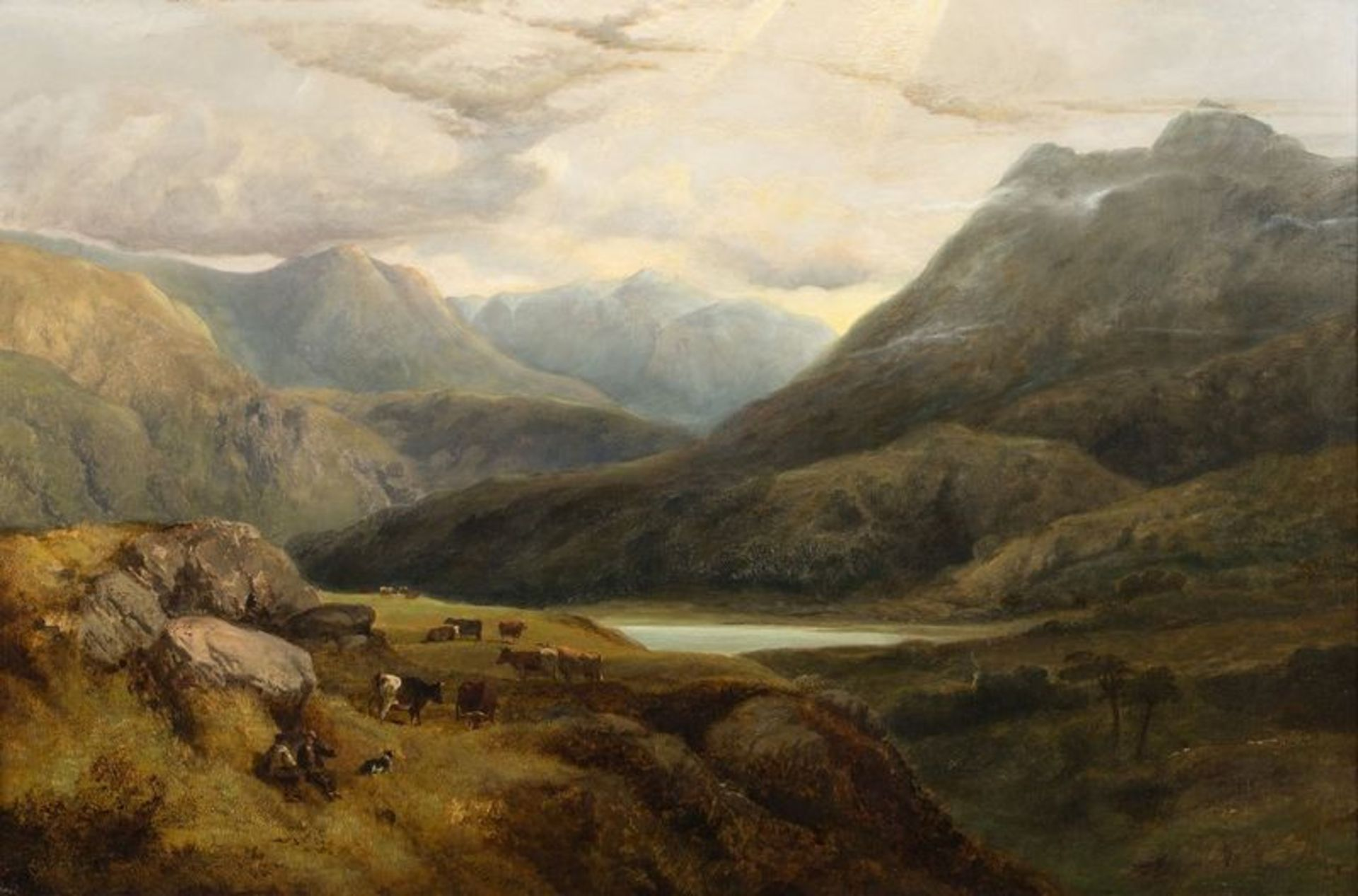 Los 518 - GEORGE SHALDERS (1826-1873) A Welsh Valley Near Betws-y-Coed, 1853 - Signed and [...]