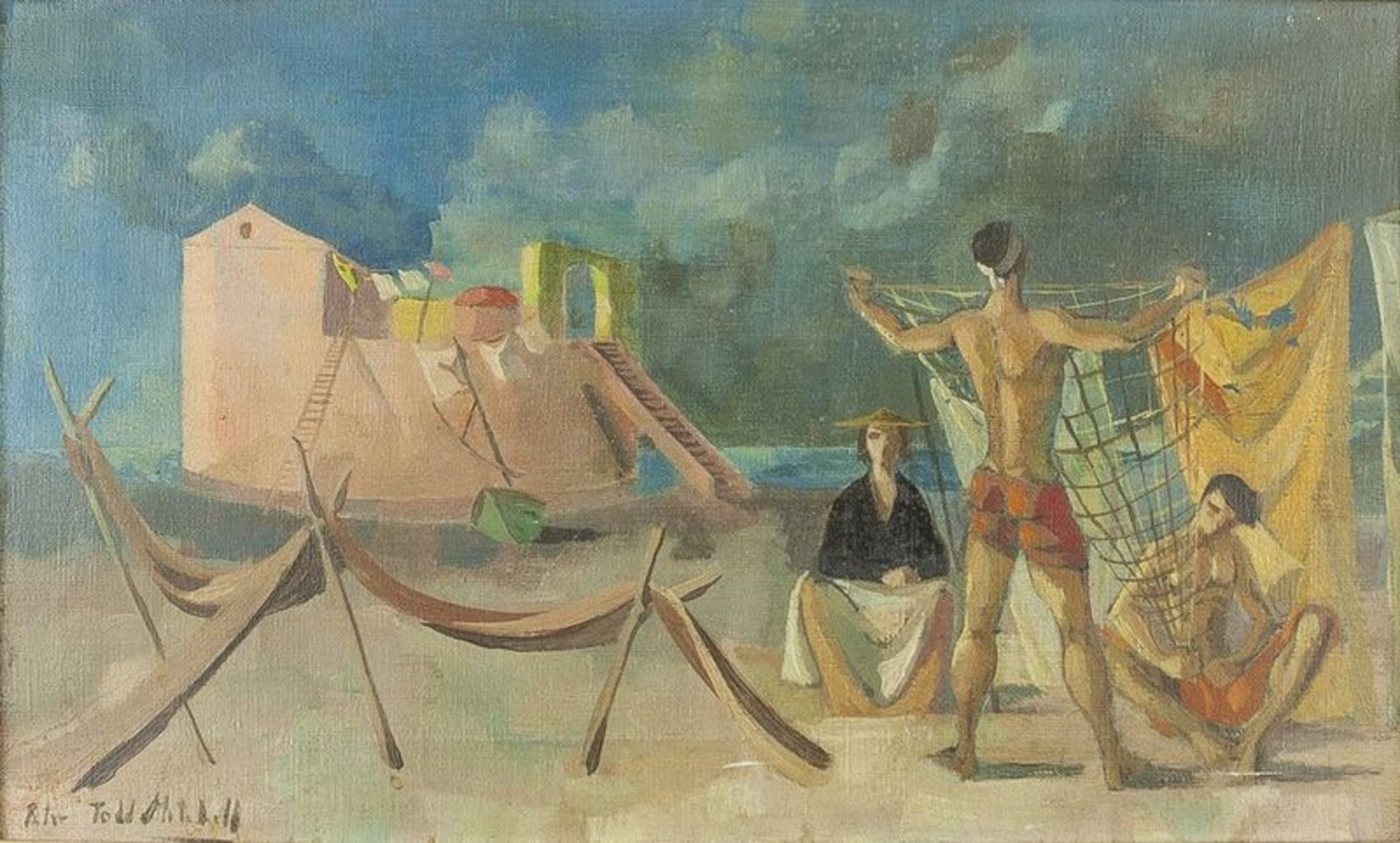 Los 562 - Peter Todd Mitchell (1929- 1988) Untitled (Mediterranean scene) - Signed 'Peter [...]