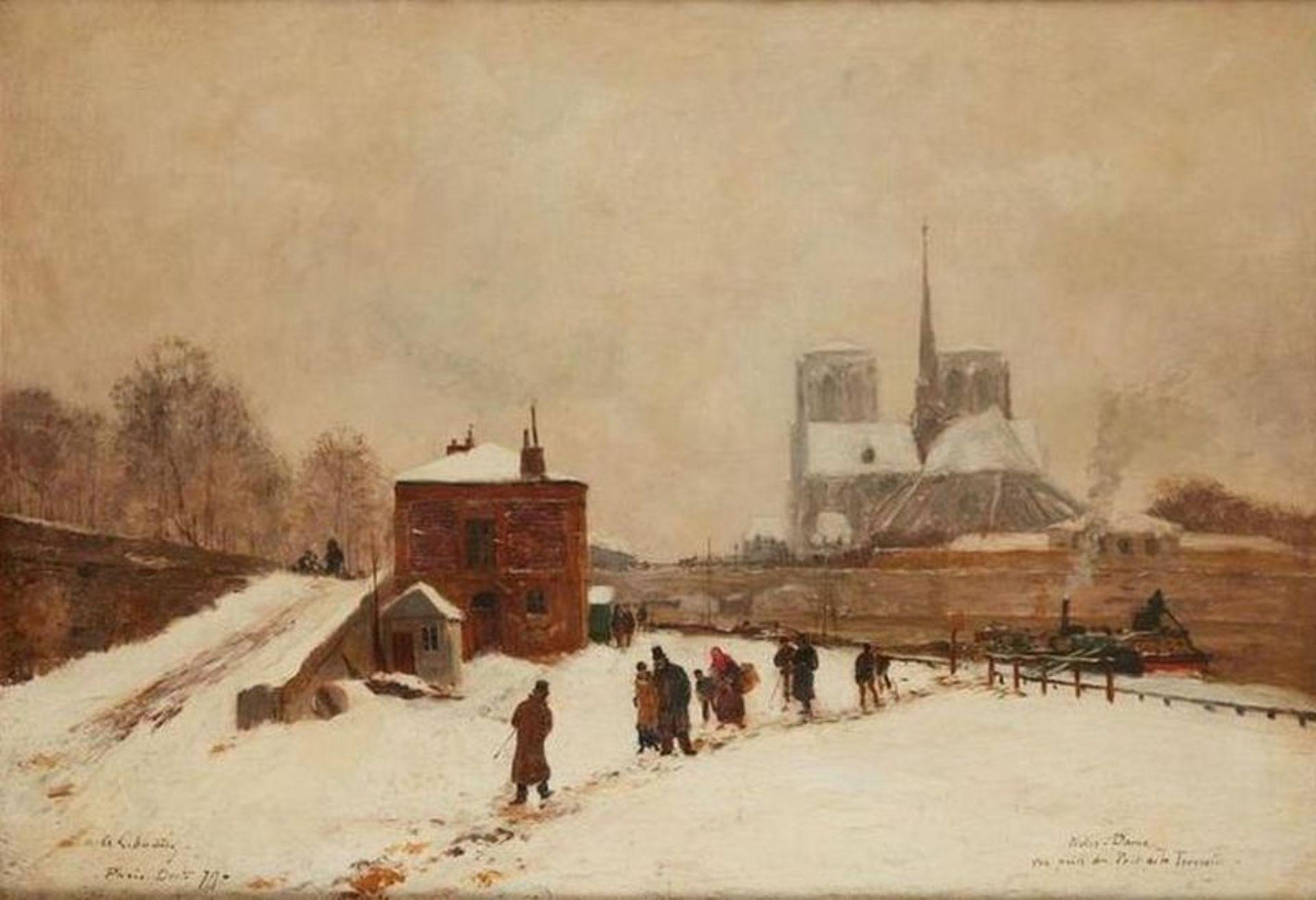 Los 505 - ALBERT-MARIE LEBOURG (1849-1928) Notre Dame. Vue prise du Pont de la Tournelle - [...]