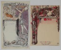 Charles-Léonce Brossé (1871 - ?) Advertising projects, menus, original drawings [...]