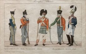 Unknown French Artist Soldiers of the Allied armies. Circa 1815. - Hand-coloured [...]