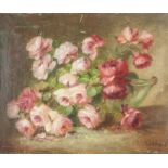 P. VANDERIES Peonies - Signed 'Vandieres P.' (lower right) Oil on canvas 46 x [...]