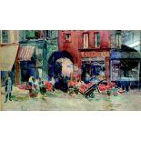 Elie Anatole PAVIL (1873-1948) Commercial street, Paris - Signed (lower [...]