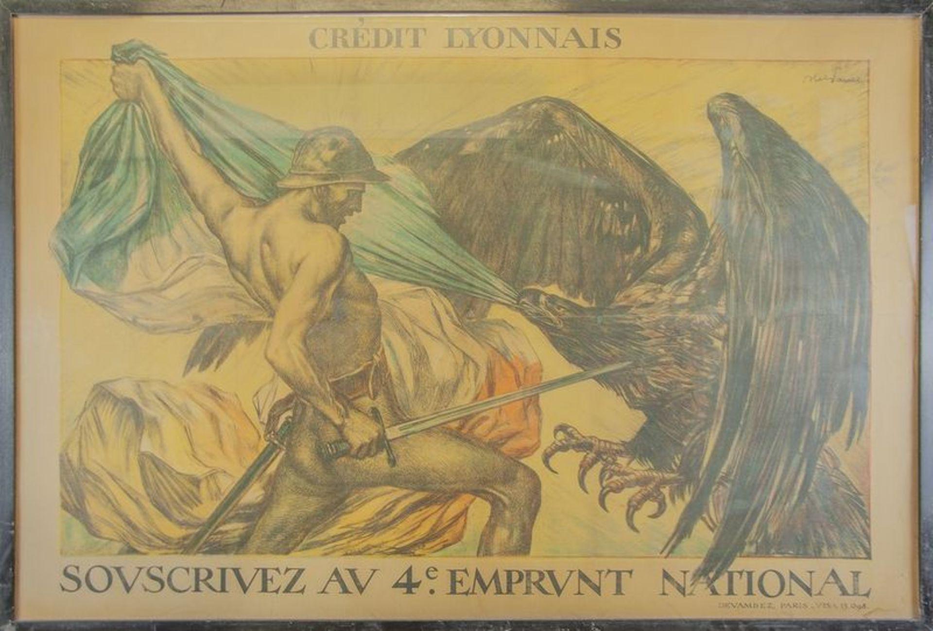 ABEL JULES FAIVRE (1867-1945) Crédit Lyonnais : Souscrivez au 4e. Emprunt National [...]