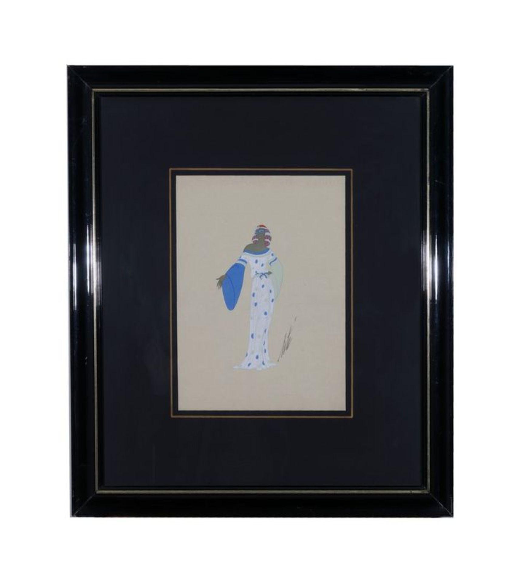 Los 530 - ERTE (1892-1990) Rose du Mal de Servand. 1940 Pencil and tempera on paper - [...]
