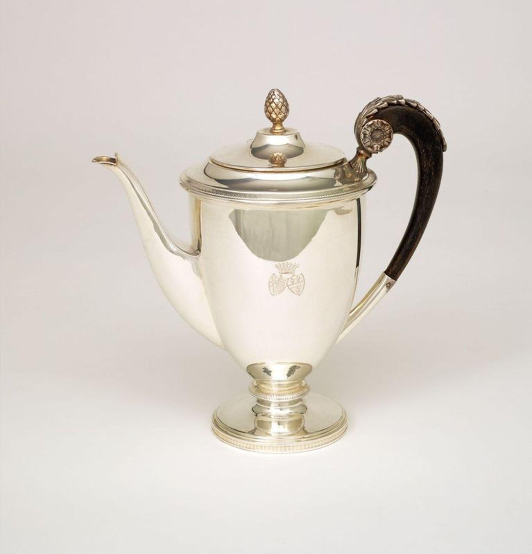 SILVER TEA AND COFFEE SERVICE SET FROM VIENNA BY ALEXANDER STURM - Silver set, 7 [...] - Bild 4 aus 5