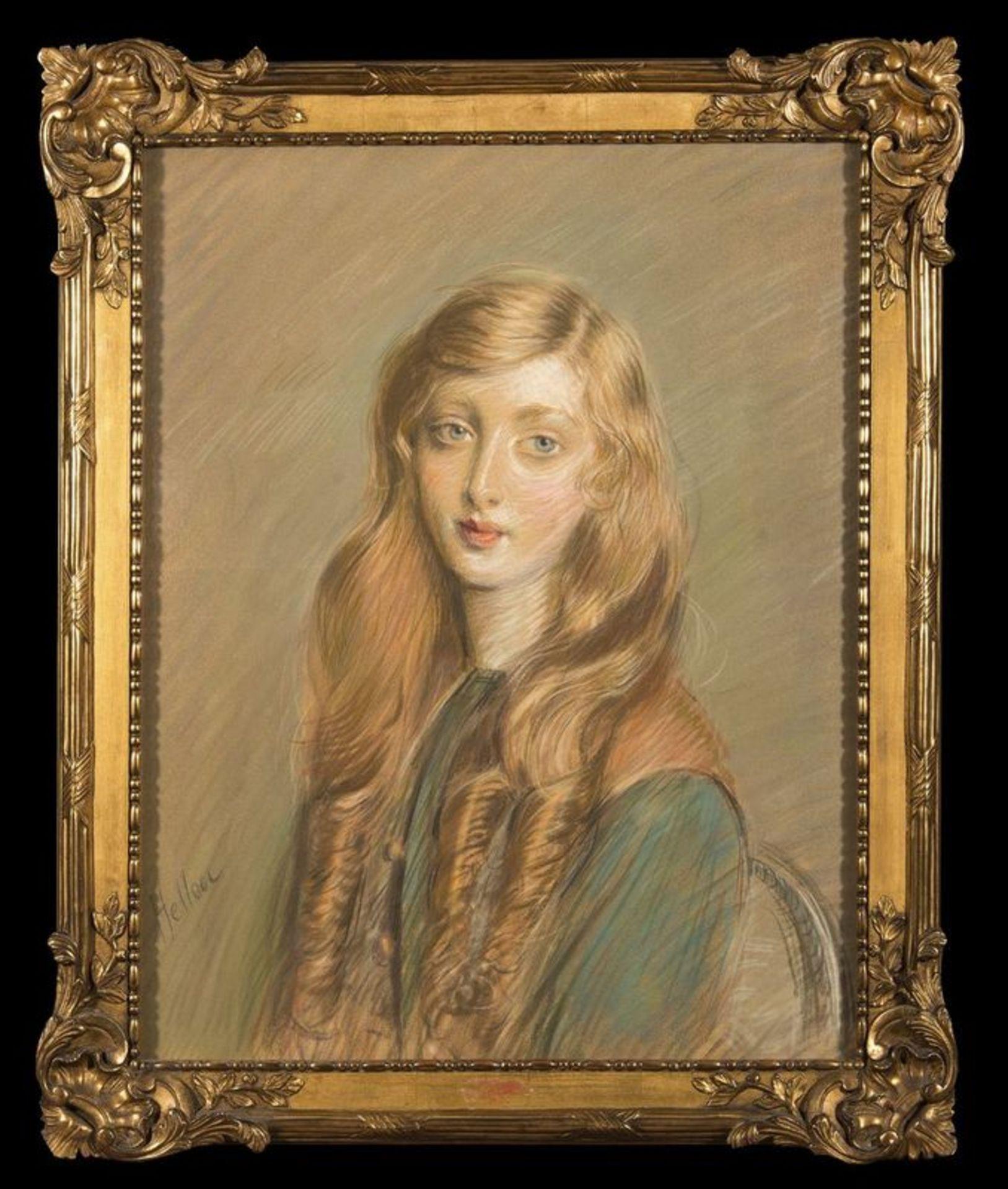Los 519 - PAUL CESAR HELLEU (1859-1927) Jeune Femme Blonde - Signed 'Helleu' (lower [...]
