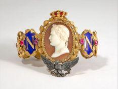 NAPOLEON PRESENTATION BRACELET TO LAS CASES UNIQUE GOLD, BLUE ENAMEL AND GEMSTONE [...]