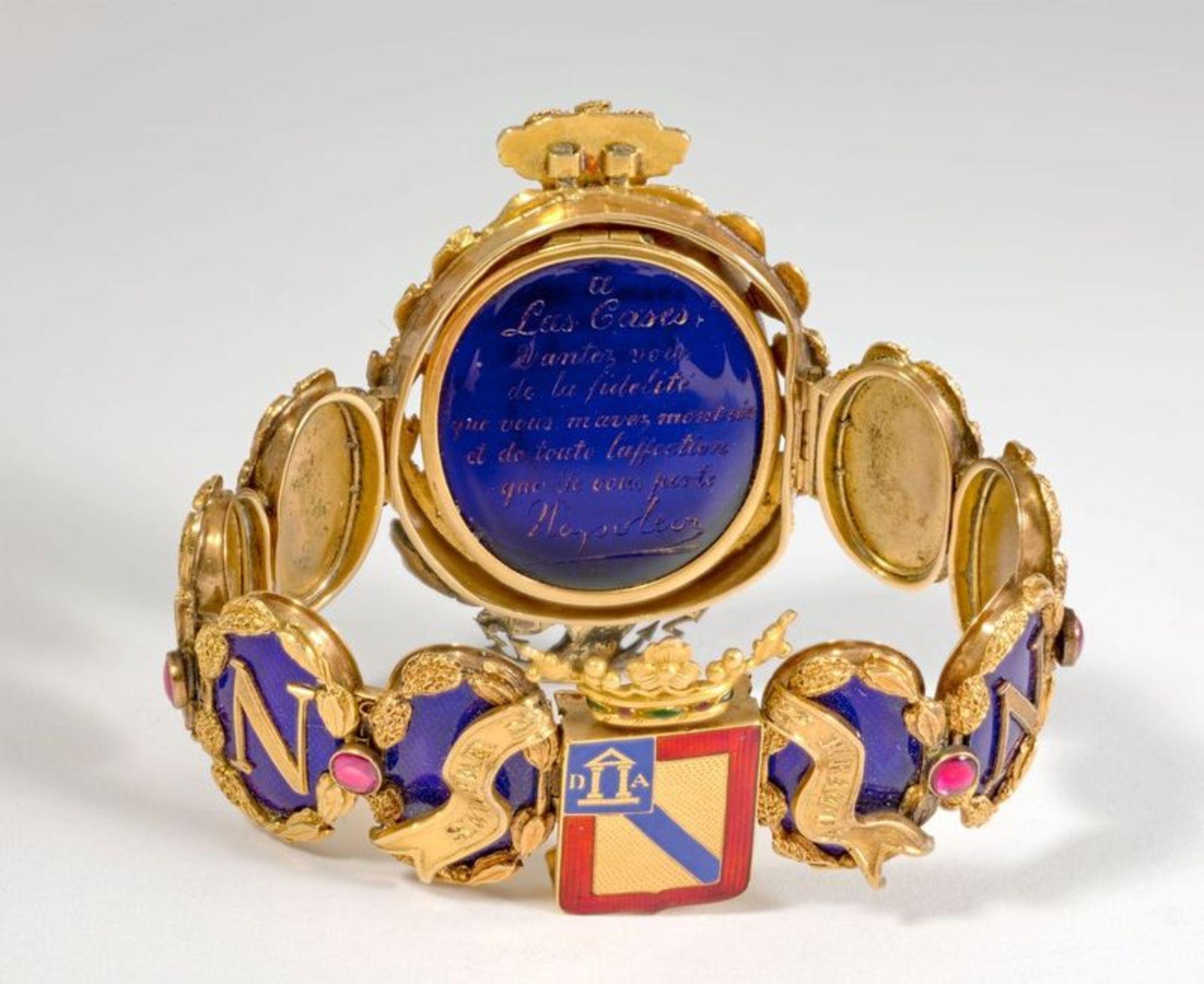 NAPOLEON PRESENTATION BRACELET TO LAS CASES UNIQUE GOLD, BLUE ENAMEL AND GEMSTONE [...] - Bild 2 aus 3