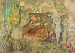 E. DILMAL A Jean Cocteau - Signed and dedicated 'A Jean Cocteau 1963 E, [...]