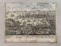Unknown artist The view of Marseille. Beginning of the XVIII century. - Coloured [...]