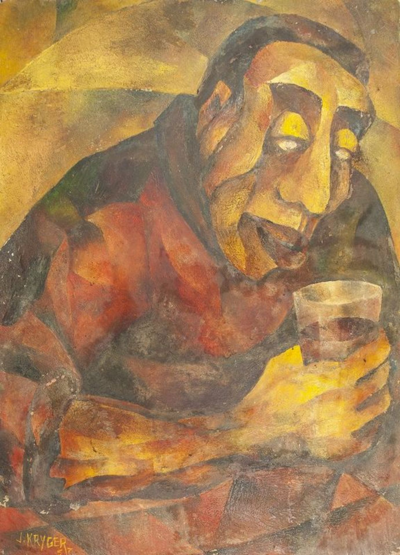JEAN KRYGER L'Ivrogne (The Drunkard) - Signed and dated 'J Kryger 57' (lower [...]