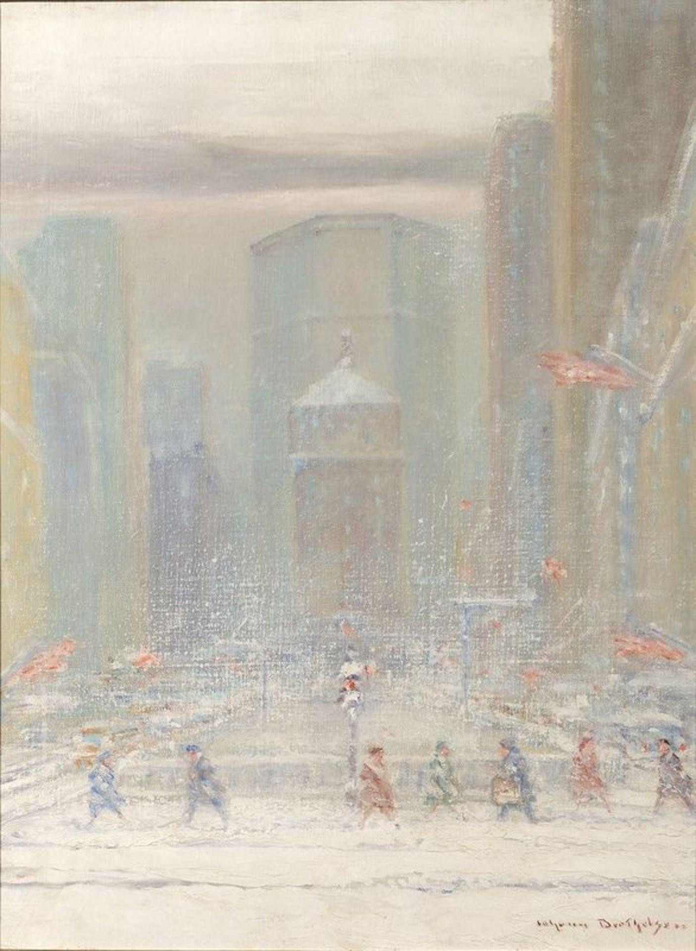 JOHANN HENRIK CARL BERTHELSEN (1883-1972) Park Avenue, New York, 1962 - Signed [...]