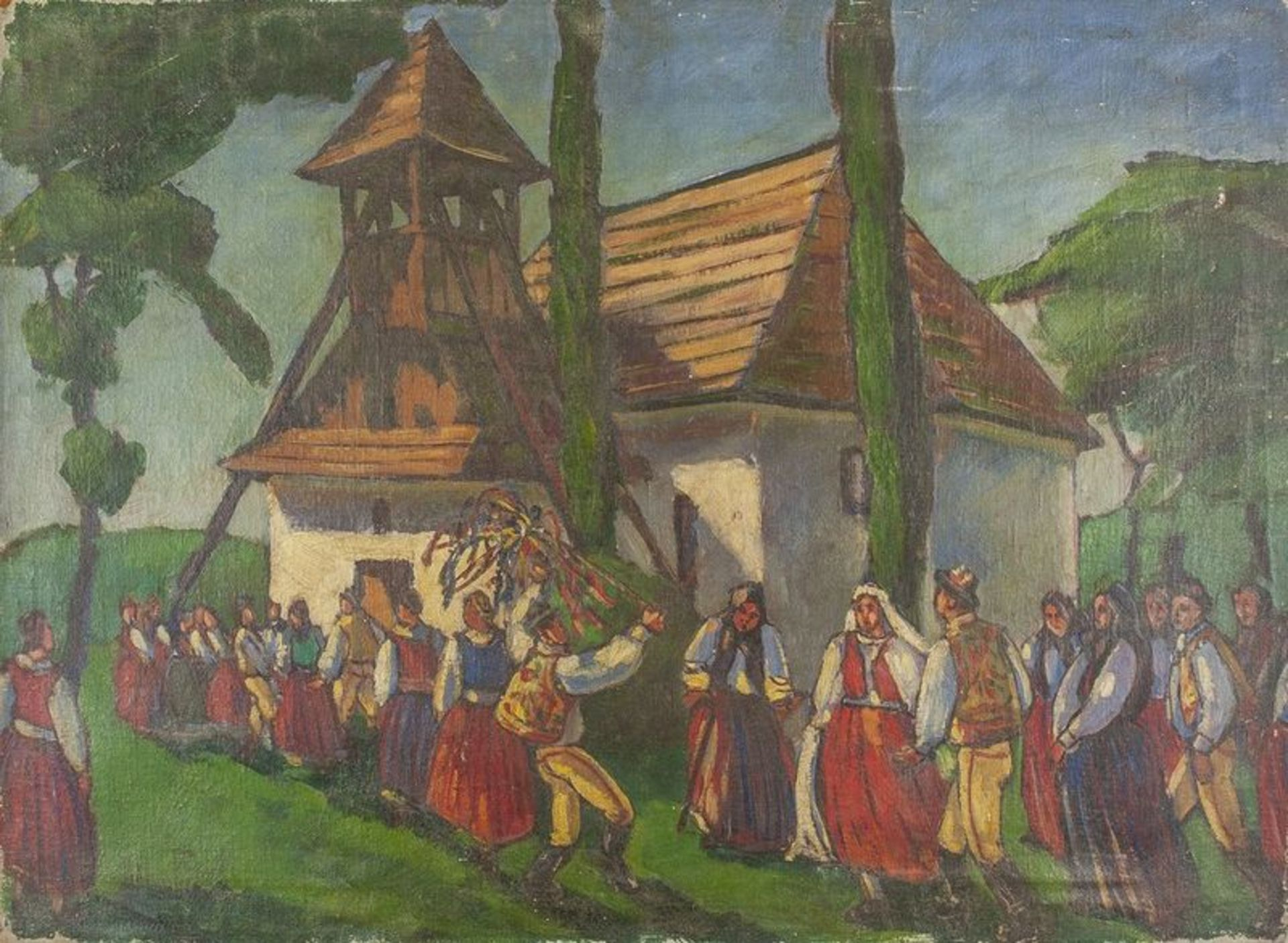 Los 602 - Unknown artist Wedding in a village - indistinctly signed 'T HIeSSer' (lower [...]