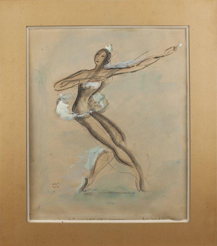 Jean Toth (1899-1972) Ballet dancers (4 watercolours) - Signed (lower left or lower [...] - Bild 4 aus 5
