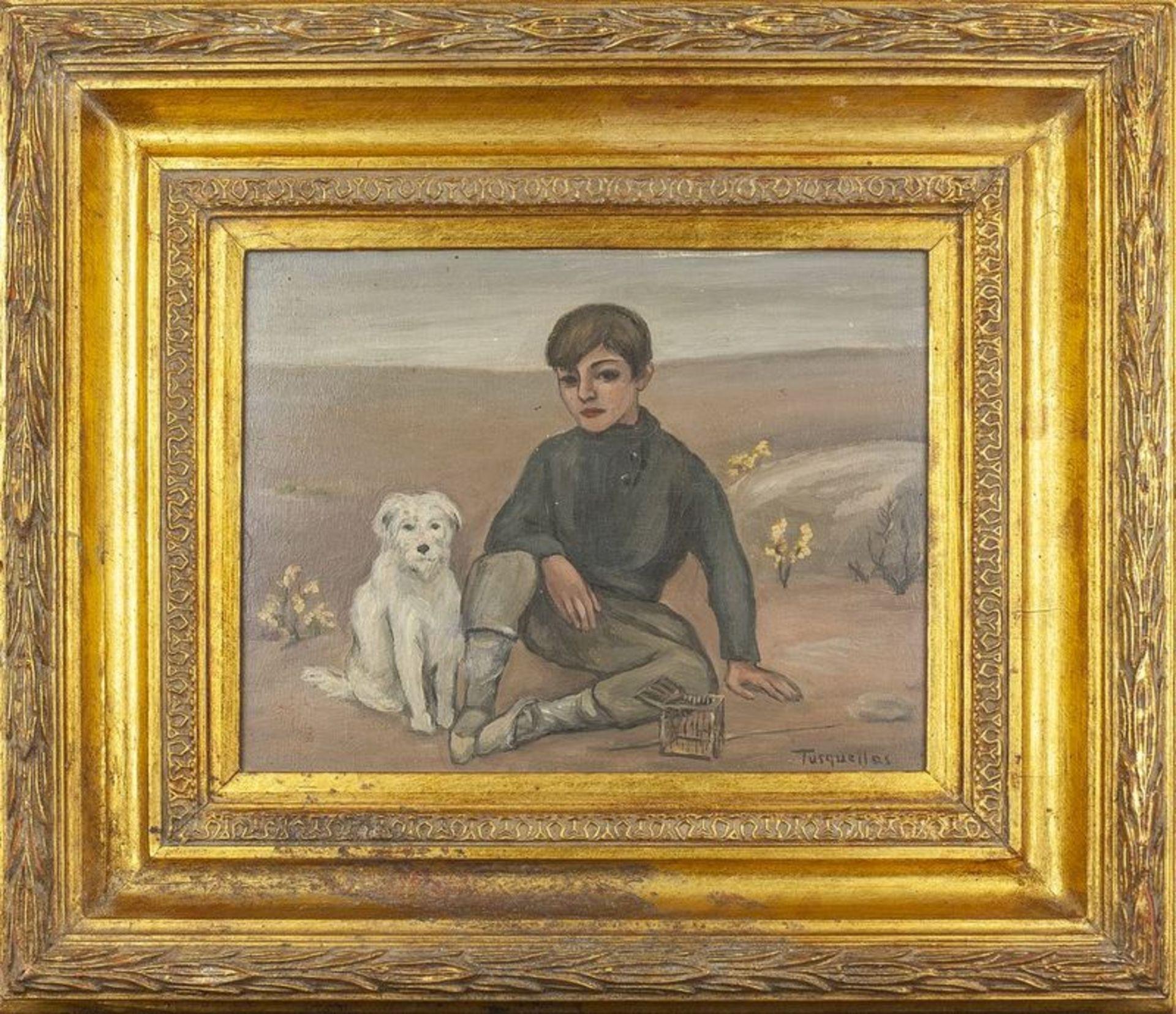 Los 594 - MIGUEL TUSQUELLAS CORBELLA (1884-1969) Contemplation - Signed 'Tusquellas', [...]
