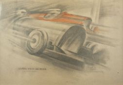 Howard K. Elcock (XX century) Grand Prix - Signed and dated (lower right), [...]