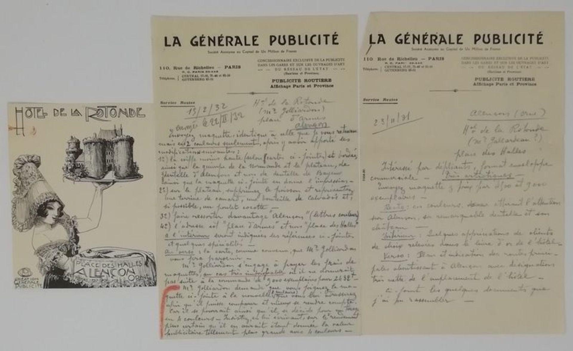 Charles-Léonce Brossé (1871 - ?) Advertising projects, menus, original drawings [...] - Bild 3 aus 4