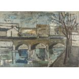 JACQUES DAUFIN (1930) Urban bridge - Signed and dated 'Daufin 30' (lower [...]