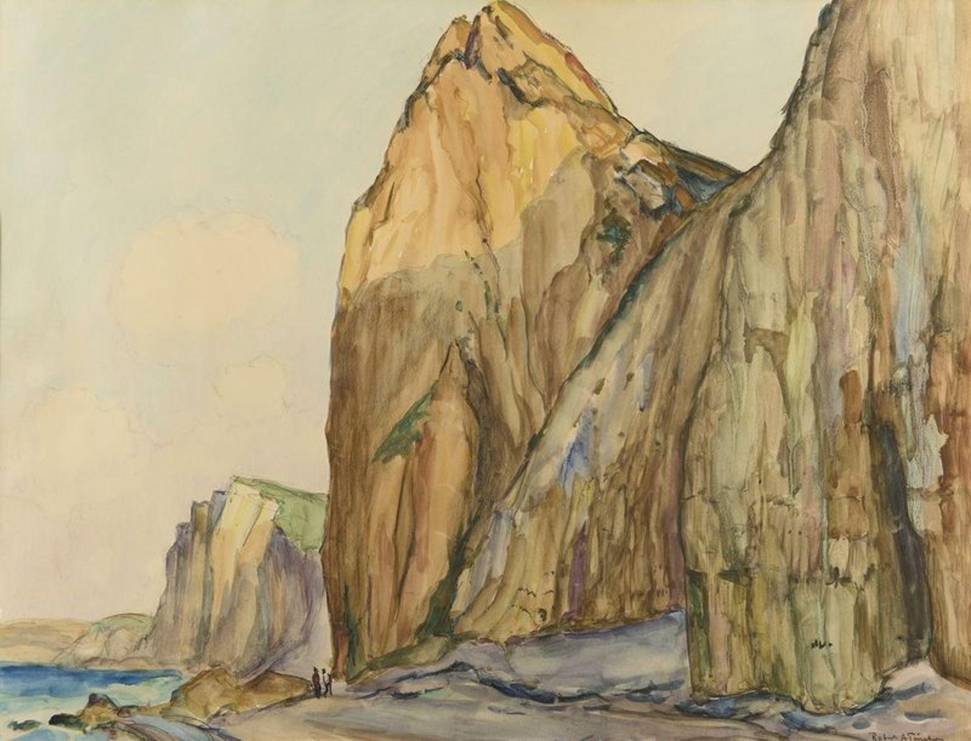 Los 512 - ROBERT ANTOINE PINCHON (1886-1943) Falaises a Varengeville - Signed lower right [...]