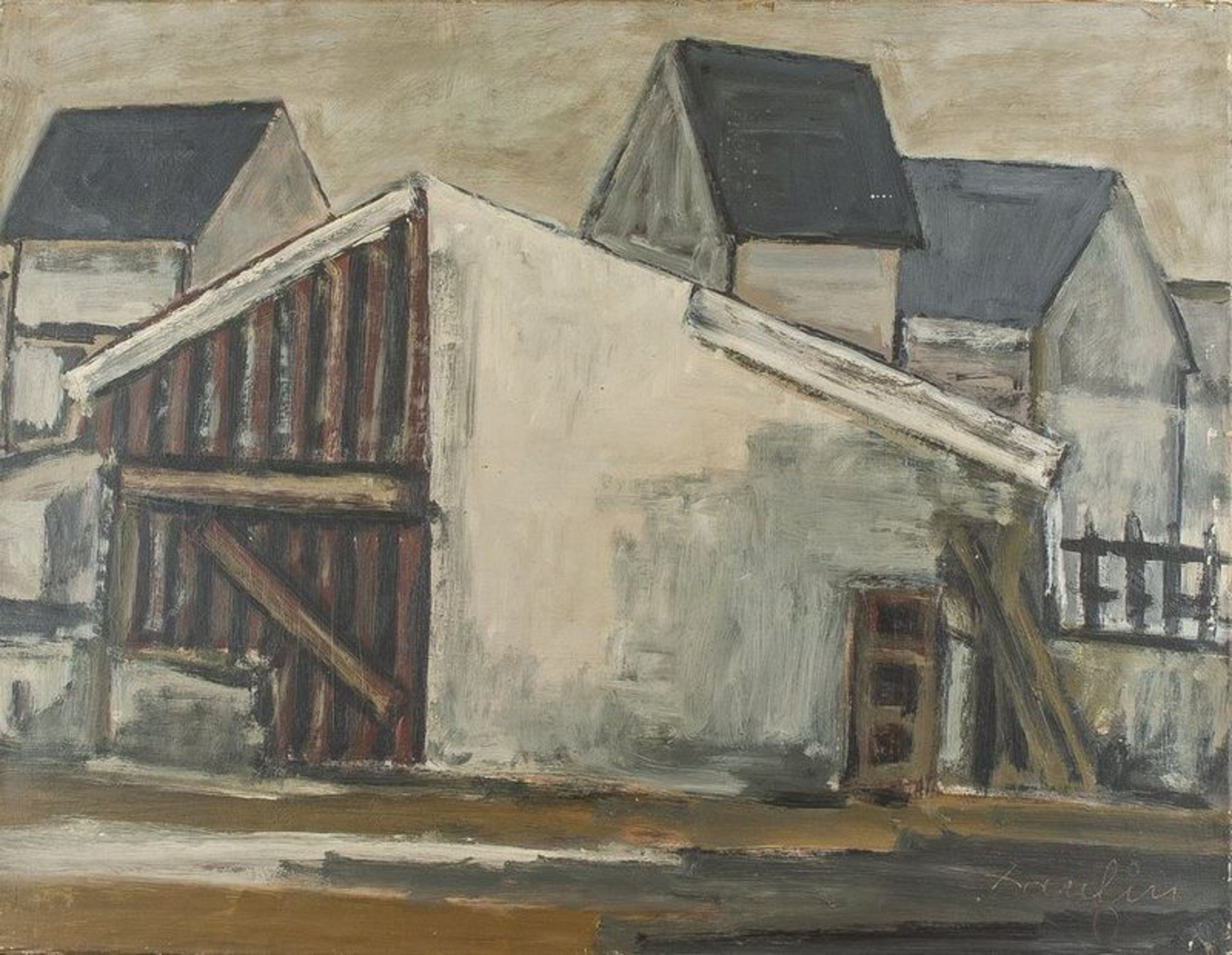 Los 618 - JACQUES DAUFIN Urban neighborhood - Signed and dated 'Daufin' (lower [...]