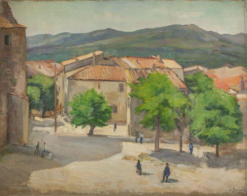 LOUIS MICHEL BERNARD Le Castelet, cote d'Azur - Signed 'L. Bernard' (lower [...]