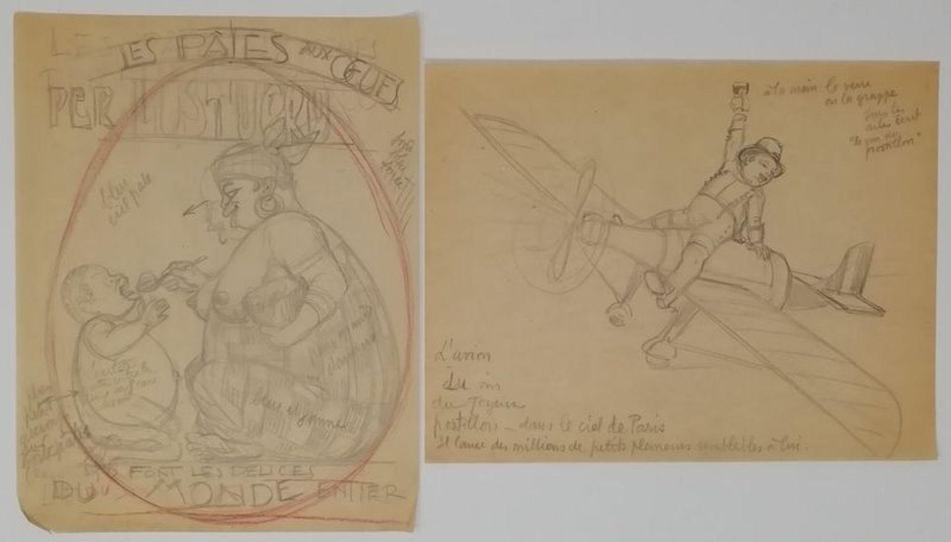 Charles-Léonce Brossé (1871 - ?) Advertising projects, menus, original drawings [...] - Bild 4 aus 4