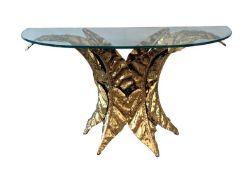 A. Chervet (born 1944) Console table sculpture, 1985 - Signed 'Chervet 85' [...]