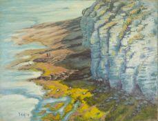 R. GEFFROY Sea shore - Signed 'R Geffroy' (lower left) Oil on canvas 51 x 65.5 [...]