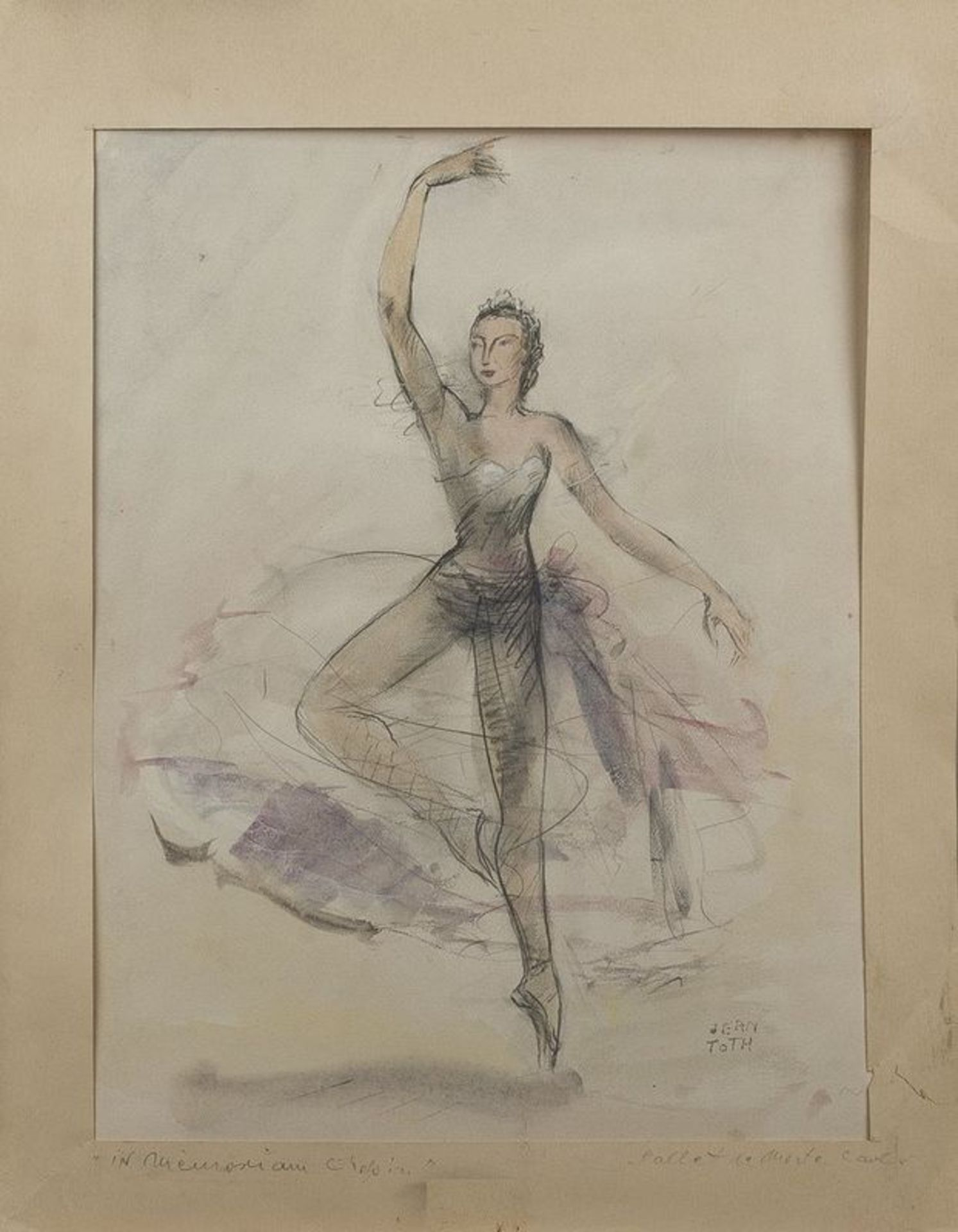 Jean Toth (1899-1972) Ballet dancers (4 watercolours) - Signed (lower left or lower [...] - Bild 2 aus 5