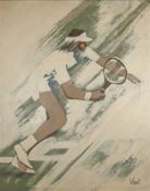 UNKNOWN ARTIST, XX CENTURY Tennis player Indistinctly signed 'Ive Tonolos' [...]