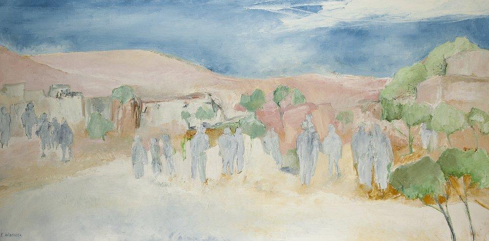 """EVELYNE WIDMAIER (BORN 1947) Mirage a Marrakech Signed """"E. Widmaier"""" (lower [...]"""