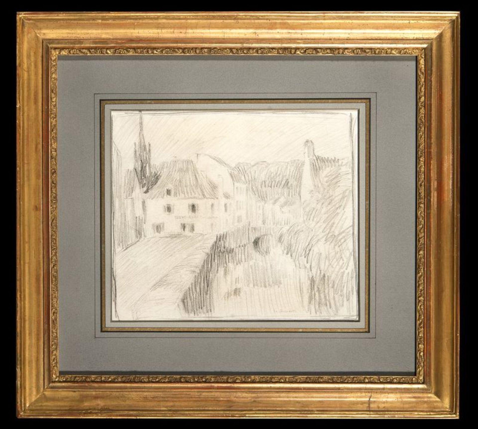 Los 514 - HENRI EUGÉNE AUGUSTIN LE SIDANER (1862 – 1939) Rue à Pont Aven 1913 - Signed [...]