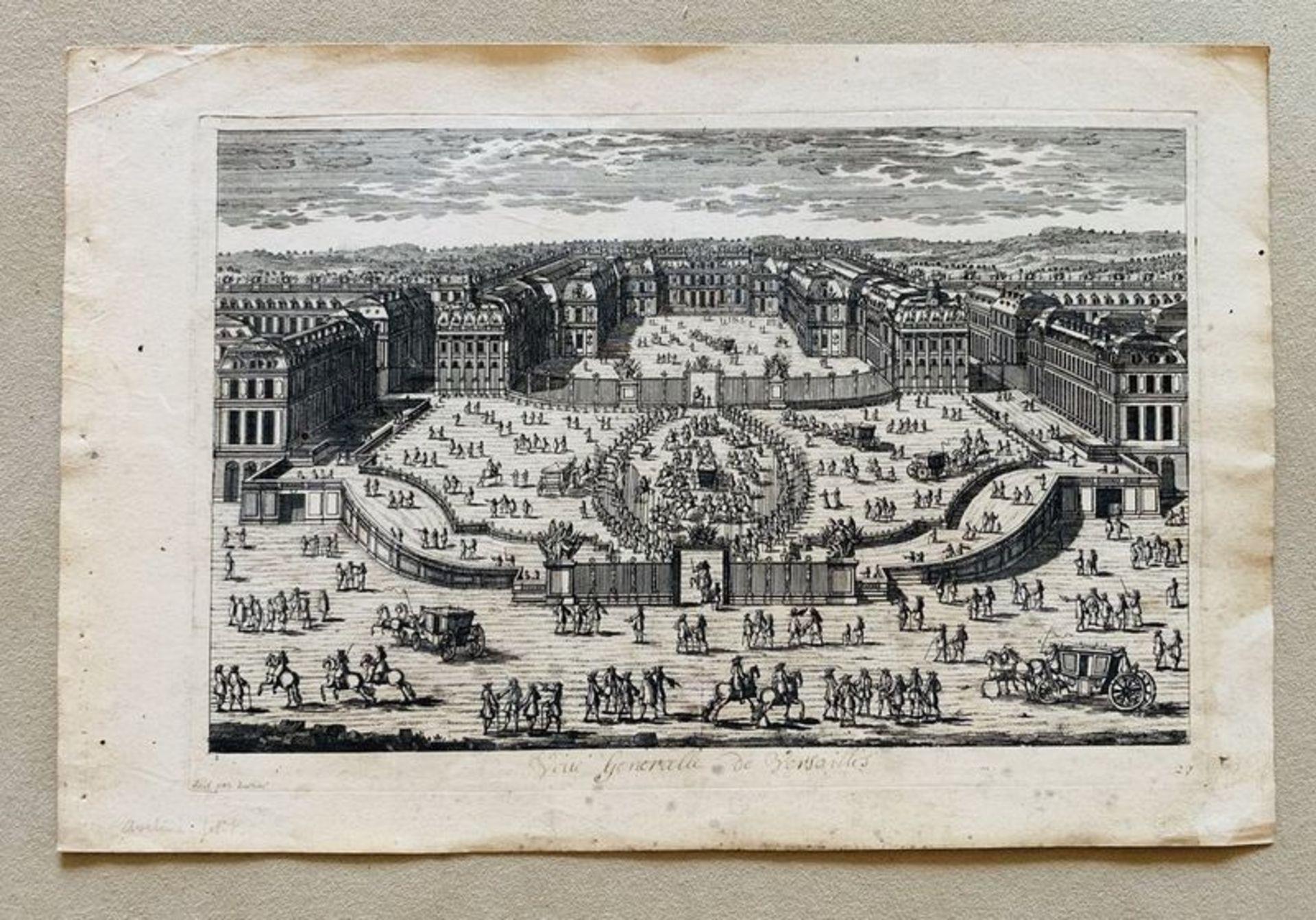 Los 570 - Pierre Aveline (1656-1722) View of Versailles - Etching End of XVII century - [...]