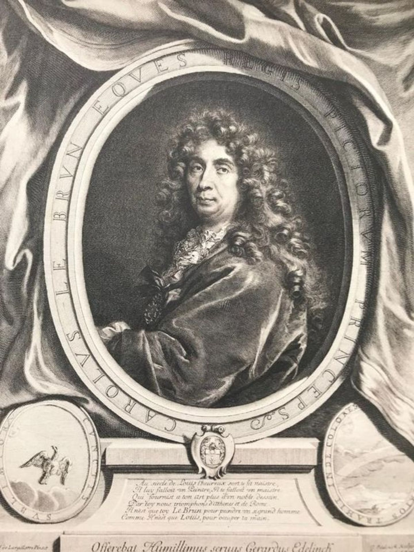 Gerard Edelinck Charles Le Brun, engraving - Robert-Dumesnil No. 238. Burin by [...]