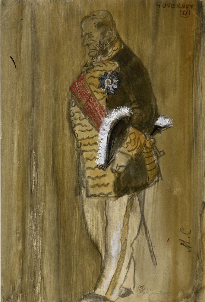 MSTISLAV DOBUZHINSKY (1875-1957), Costume Design for Governor signed with initisals [...]