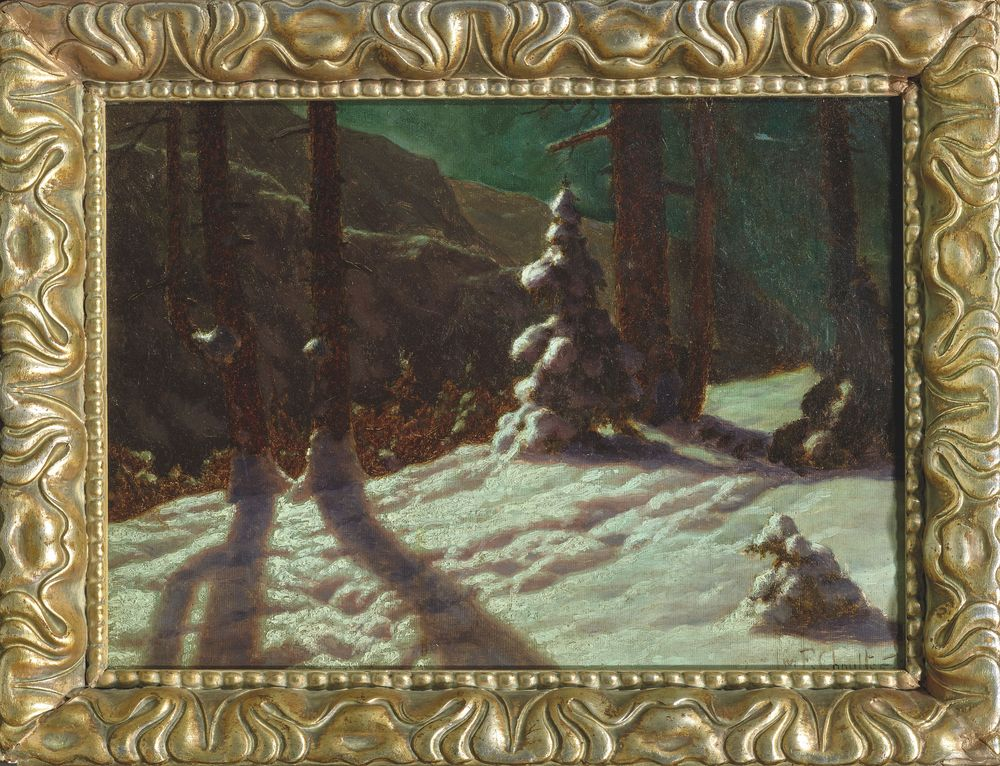 IVAN FEDOROVICH CHOULTSE (1874 - 1939), Winter in the forest signed and dated 'Iw F [...] - Image 2 of 2