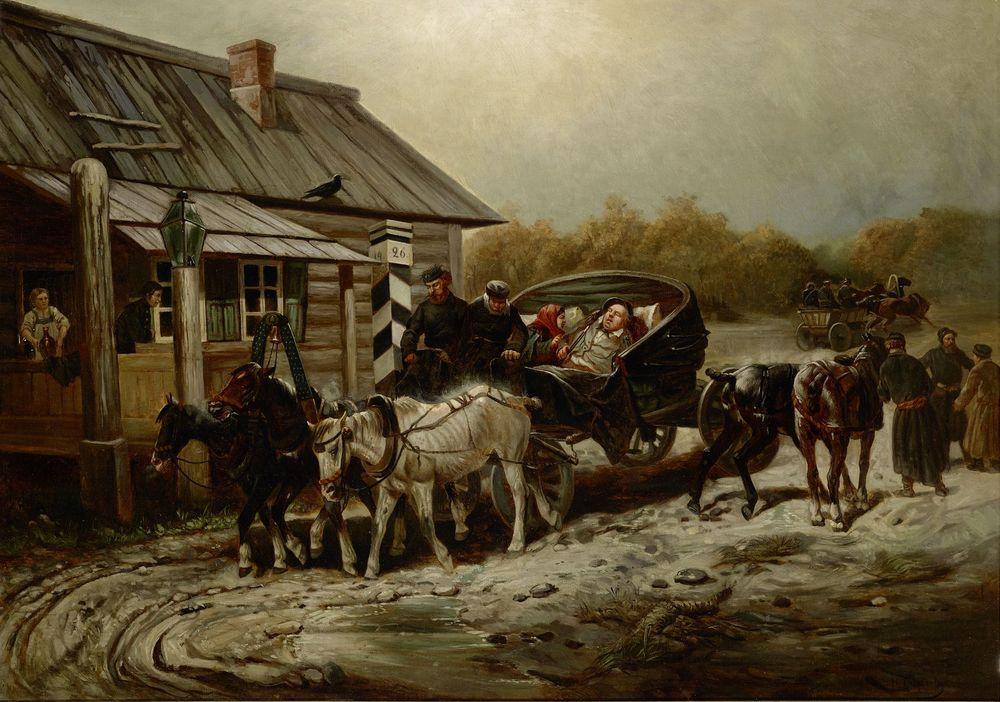 NIKOLAI SVERCHKOV (1817 - 1898), The weary traveller signed in Cyrillic (lower [...]