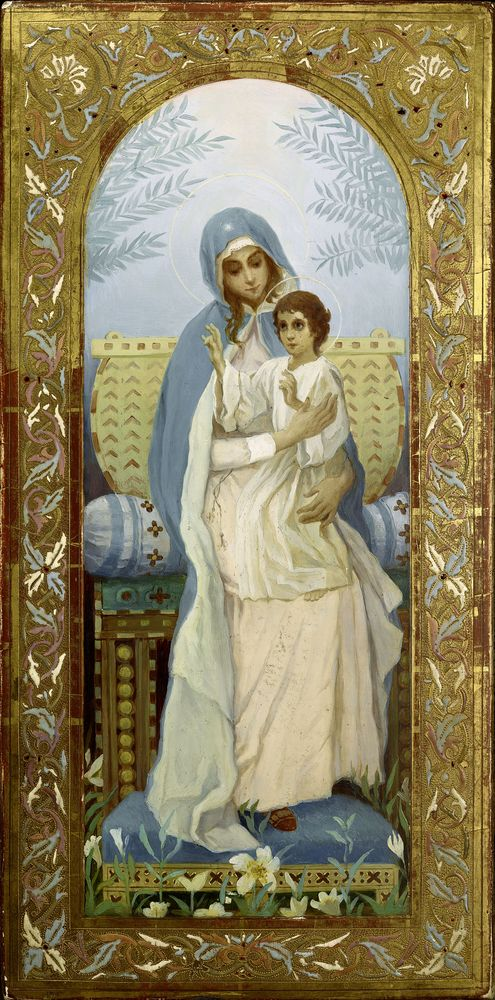MIKHAIL NESTEROV (1862-1942), Virgin and a Child oil on panel 44.6 x 22.1 [...] - Image 2 of 3
