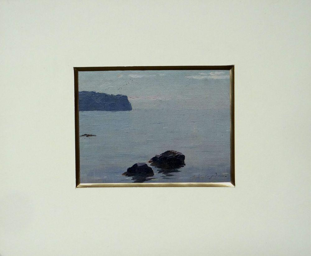 Georgij KIBARDIN (1899-1989), Seascape signed in Cyrillic (lower right) oil on [...] - Image 2 of 2